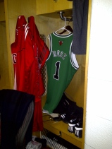 This is the Jersey he wore in the Saint Patricks day game
