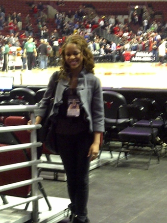 At the Bulls vs Wizards game 2011