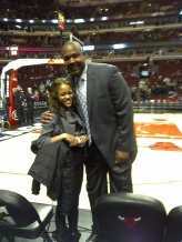 Stacy King and I before the Bulls game!