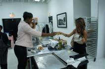 Cheers with the Englewood Portal's Rashanah Baldwin